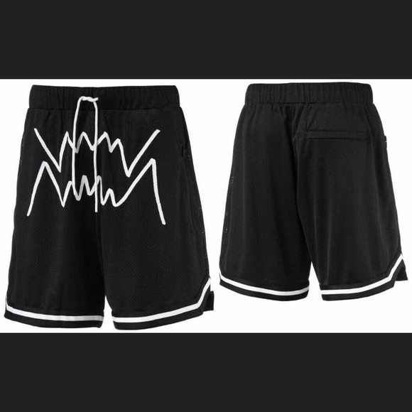 black and white puma shorts